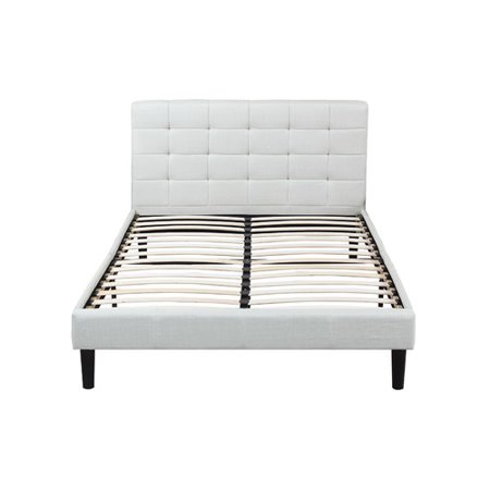Deluxe Full Bedroom Package - Madison Home USA Classic Deluxe Linen Low Profile Platform Bed