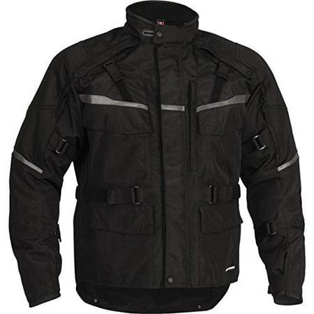 Firstgear Jaunt 12 Jacket, Gender: Mens/Unisex, Primary Color: Black, Size: Md, Distinct Name: Black, Size Modifier: Tall, Apparel Material: Textile - Distinctive Apparel Inc