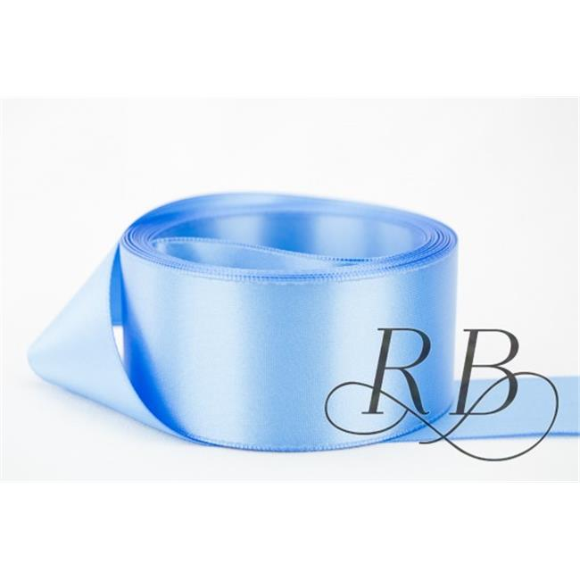 Ribbon Bazaar 7358 3 in. Double Faced Satin Ribbon, French Blue - By The Yard