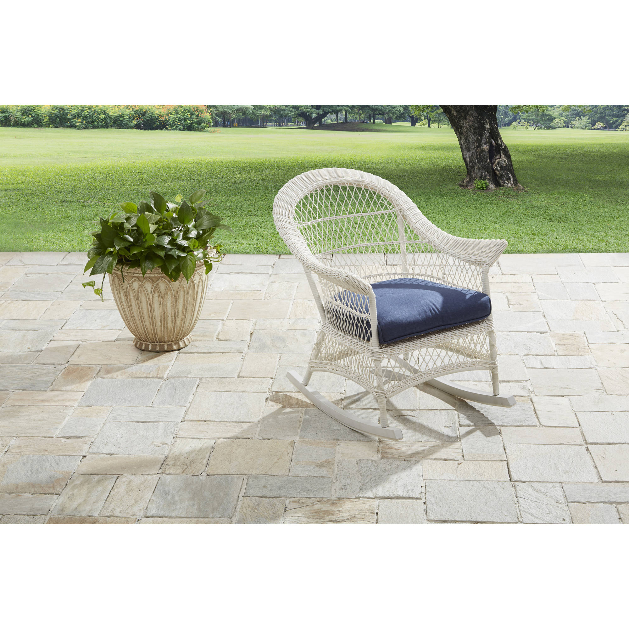 Better Homes and Gardens Porch Lane Wicker Rocking Chair