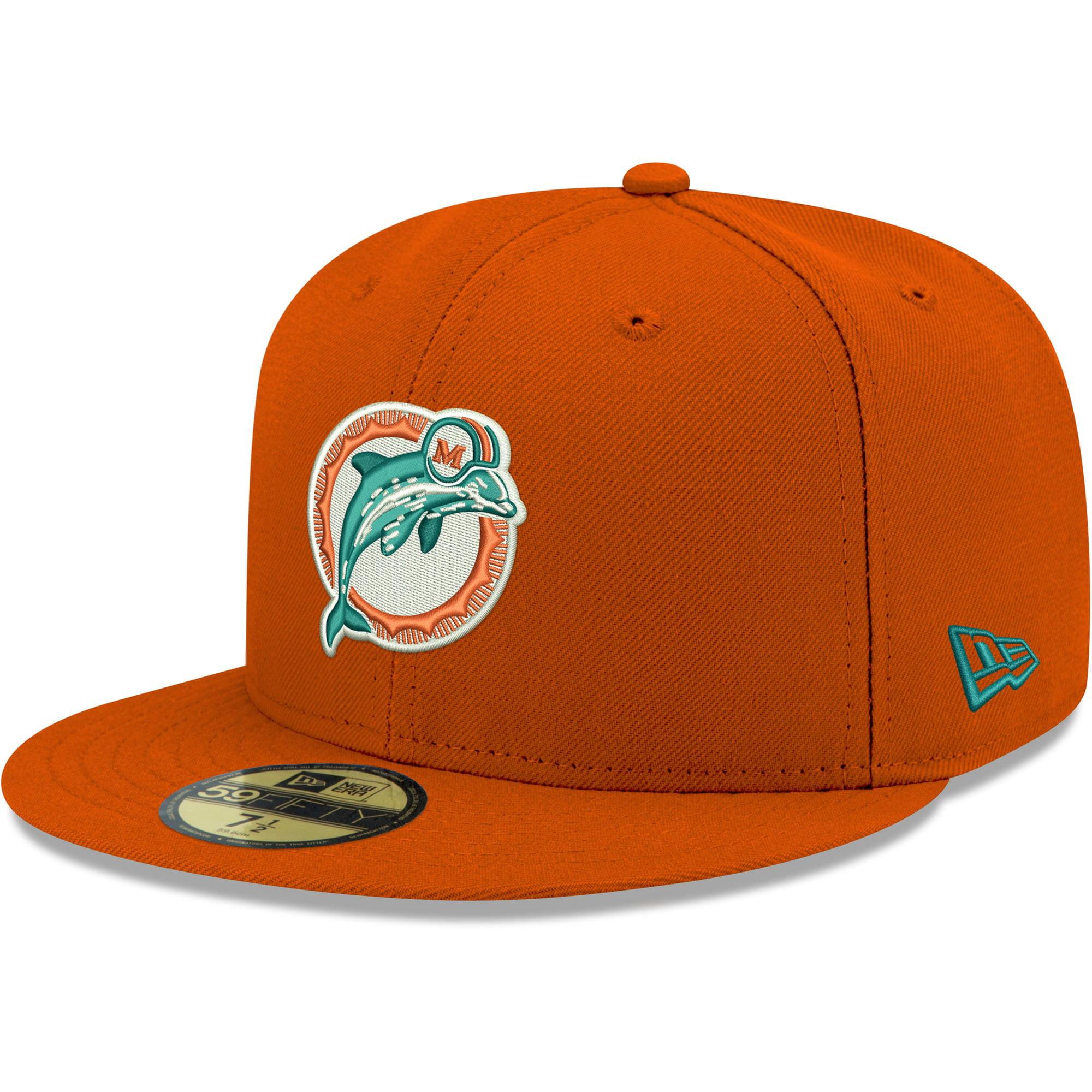 Miami Dolphins New Era Omaha Throwback 59fifty Fitted Hat Orange Walmart Com Walmart Com