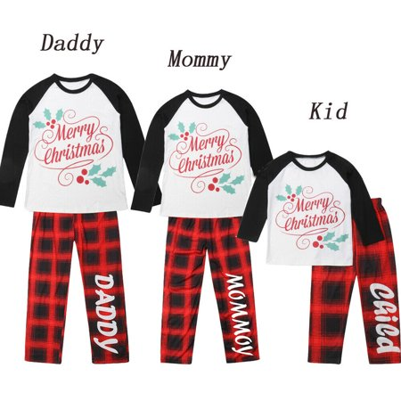 Family Matching Christmas Pajamas Mother Kid Father Sleepwear Clothing Outfits