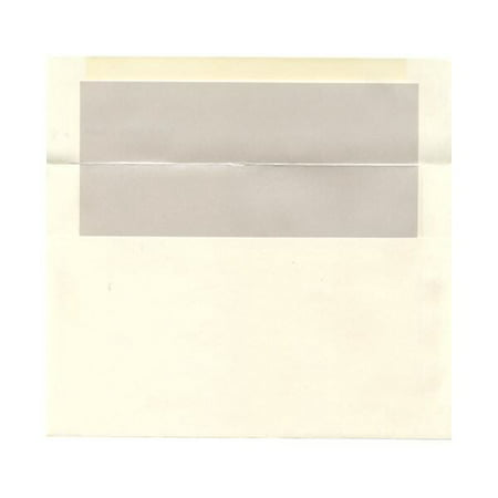 JAM Paper A9 Foil Lined Invitation Envelopes, 5 3/4 x 8 3/4, Ivory with Ivory Foil Lining, 25/pack