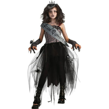 Girl's Gothic Prom Queen Halloween Costume