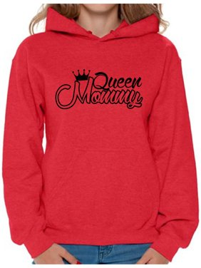 5e4df52bd Product Image Awkward Styles Women's Queen Mommy Funny Royal Graphic Hoodie  Tops Gift for Mom