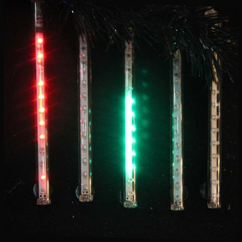 "Snowfall - Set of 5 Double-Sided 22.5"" LED Christmas Icicle Light Tubes - Multi"