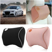 HURRISE Head Neck Car Pillow Travel Auto Seat Rest Pillow Pad Support Memory Foam Cushion