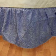 Blue Geometric Twin Bedskirt Abstract Bedding Accessory
