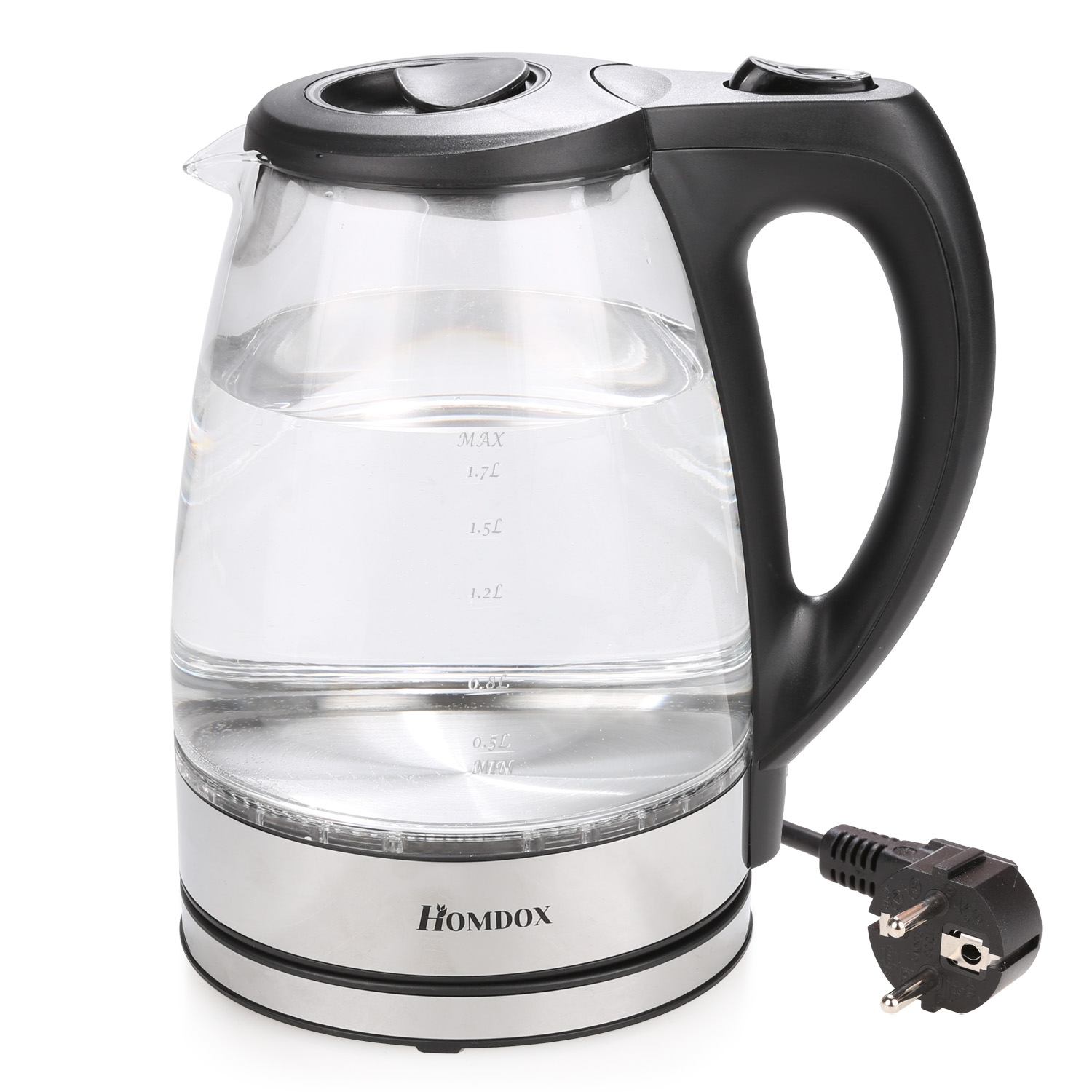 1.7 Liter Cord Electric Water Kettle Glass Container US Plug SMT by