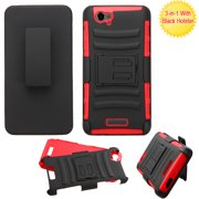 For D810 Studio Energy Black/Red Advanced Armor Stand Case Cover (With Holster)