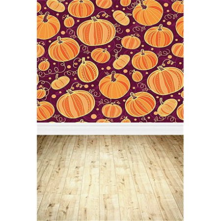 GreenDecor Polyster Cute Pumpkin Halloween Backdrop for Photography 5x7ft Photo Background for Halloween Party Studio Props (Cute Halloween Backgrounds Tumblr)