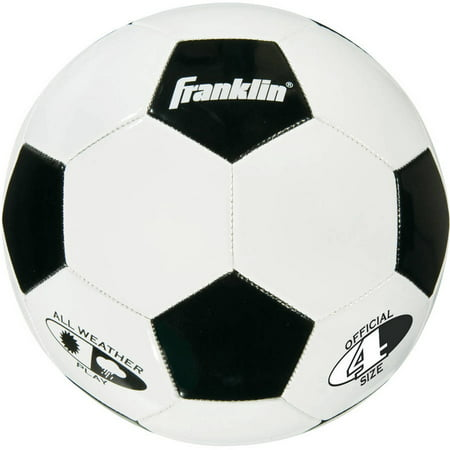Franklin Sports Competition 100 Soccer Ball, Size 4 Black Professional Soccer Ball