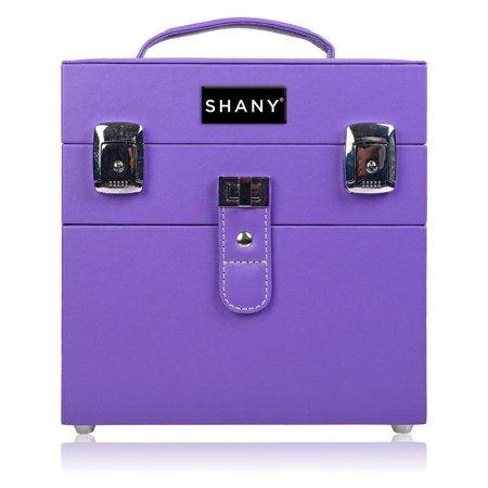 SHANY Color Matters - Nail Accessories Organizer and Makeup Train Case - Violet Dynasty (Nail Polish Organizer Case)