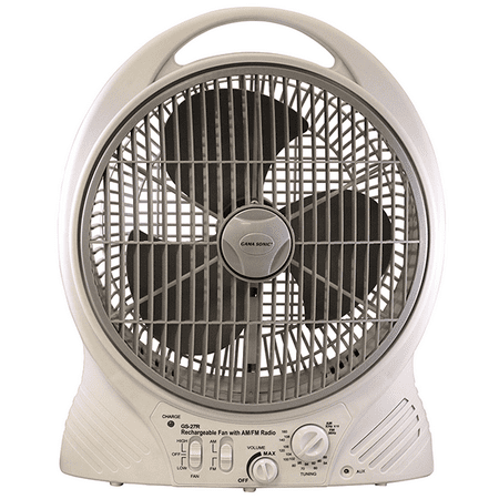 Rechargeable Cooling Fan With Am Fm Radio And Mp3 Input
