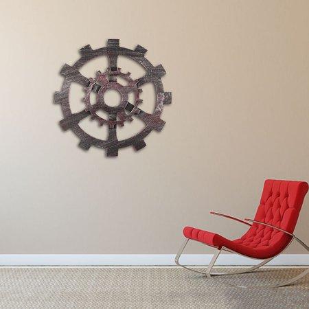 12 inch Diameter Retro wall gear Industrial Vintage Wooden Gear Wall Hanging Home Room Bar Cafe Pub Office Art Decor