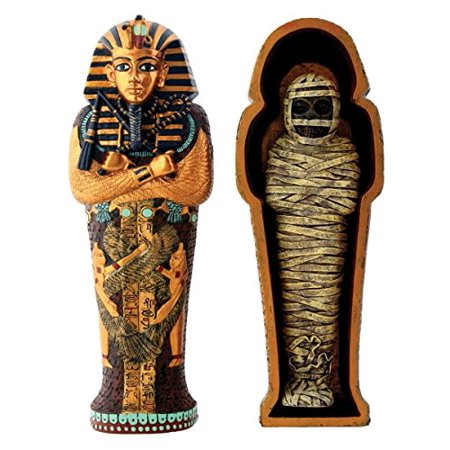Egyptian Pharaoh King Tut in Coffin with Mummy