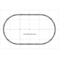 "Oval 03 Bachmann 38"" X 65"" HO Scale E-Z Track  Nickel Silver Rails Train Set"