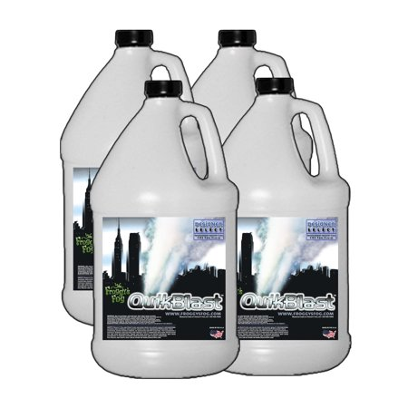Quick Blast Fog Juice - CO2 Blast Effect Fog Machine Fluid - Best for Chauvet DJ Geysers - 4 Gallon