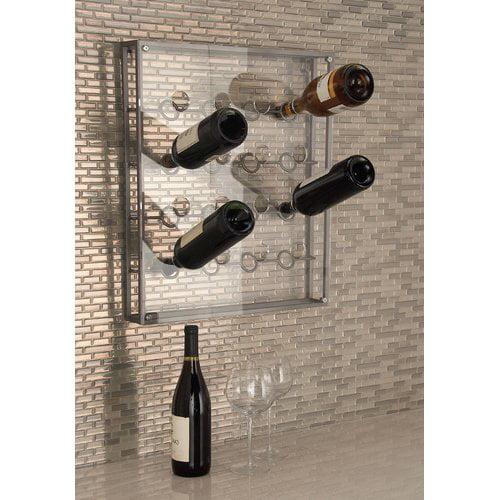 Cole & Grey 16 Bottle Wall Mounted Wine Bottle Rack