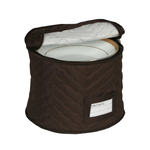 9 Chocolate Microfiber Chest For Soup Bowls by Richards Homewares