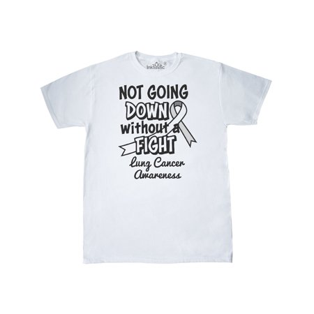 Lung Cancer Awareness Not Going Down Without a Fight T-Shirt - Lung Cancer Awareness Color