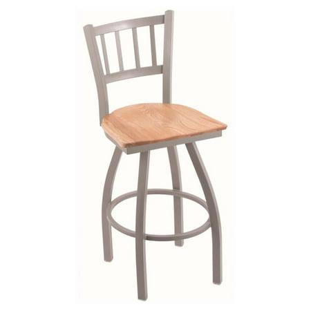 Holland Bar Stool Contessa 25 in. Swivel Counter Stool with Wood (Contessa Wood Seat Swivel Stool)