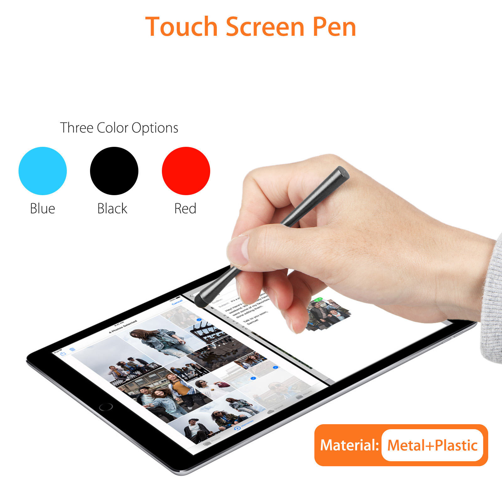 3-Pack Stylus Pen 2 in 1 Fine Point & Mesh Tip for Touch Screen Tablet and Cellphone, iPad Kindle iphone