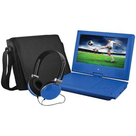 EMATIC EPD909BU 9″ Portable DVD Player Bundles (Blue)