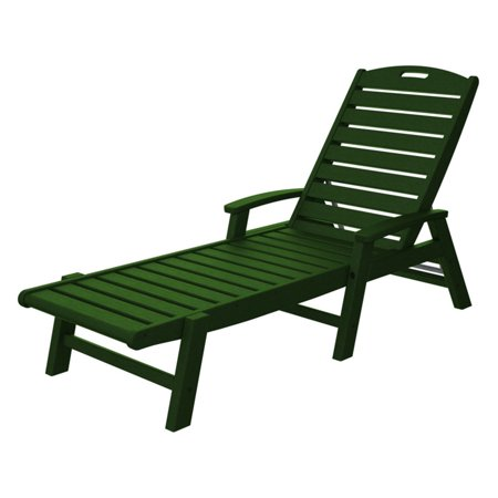 Trex Outdoor Furniture Recycled Plastic Yacht Club Chaise With Arms Stackable