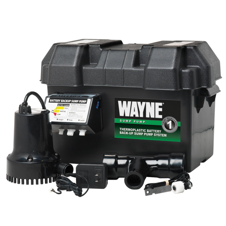Wayne Esp15 Battery Back Up 12 Volt Sump Pump System