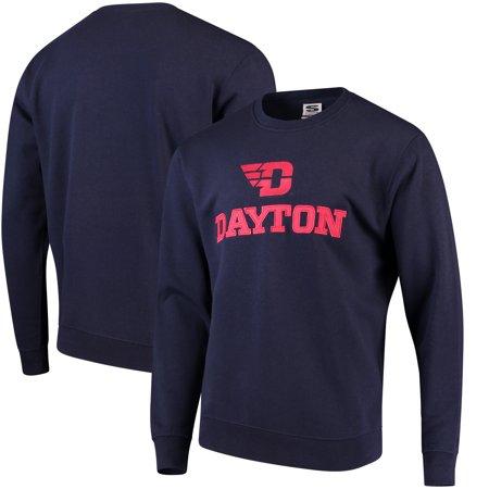 Stadium Crew Sweatshirt - Dayton Flyers Stadium Athletic Arch & Logo Crew Neck Sweatshirt - Navy