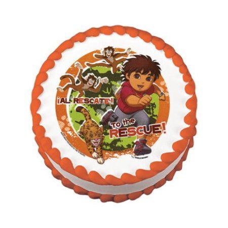 Go Diego Go Edible Cake Image Birthday Party - Diego Birthday Party