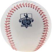 David Ortiz Boston Red Sox Rawlings Retirement Logo Baseball
