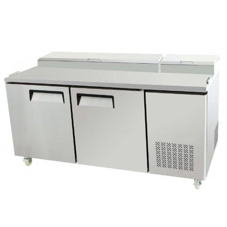Door Commercial Refrigerated Pizza Salad Sandwich Prep Station - Sandwich prep table cooler