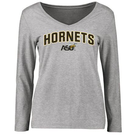 Alabama State Hornets Women's Proud Mascot Long Sleeve T-Shirt - Ash ()