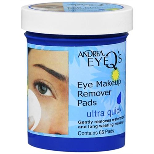 Andrea Eye Q's Eye Make-Up Remover Pads Ultra Quick 65 Each (Pack of 2)