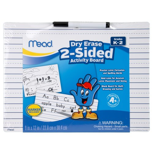Mead Early Learning 2-Sided Dry Erase Activity Board