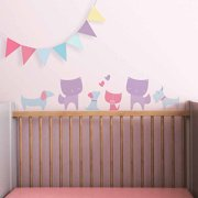 Cats and Dogs Fabric Wall Decals