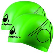2c31b5ba3c 2pk Aqua Sphere Tricap Adult Silicone Wrinkle Free 100% UV Protection Swim  Cap