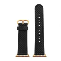 74920bf4e DASSARI Carbon Fiber iWatch Band Strap for Apple Watch w/ Yellow Gold Buckle  38mm 42mm