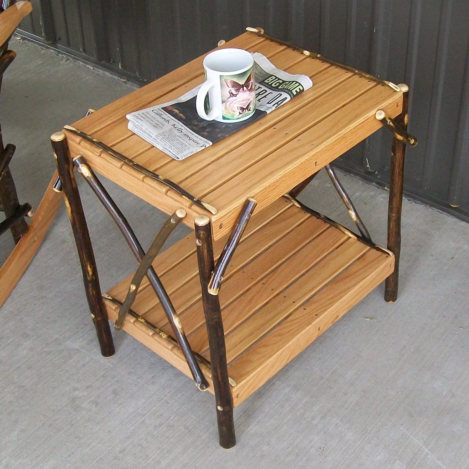 A & L Furniture Hickory End Table