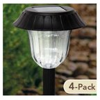 Northern International TV23048BK4 LED Solar Path Light Set, Black Resin, 4-Pk.