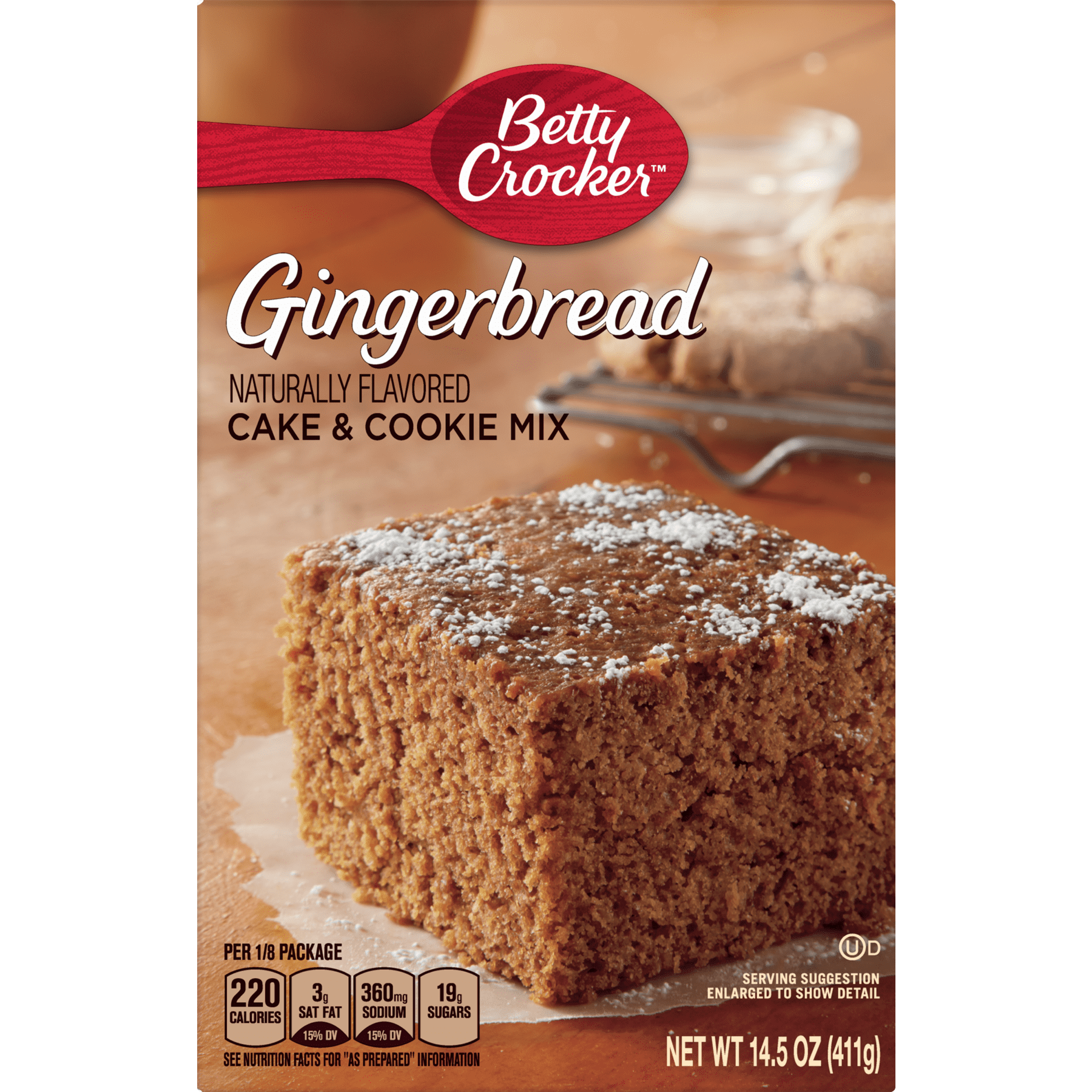 Betty Crocker Gingerbread Cake And Cookie Mix 145 Oz Walmart