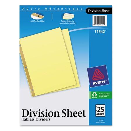 Avery Division Sheet Dividers 11542, 25-Divider Set (Halloween Division Sheets)