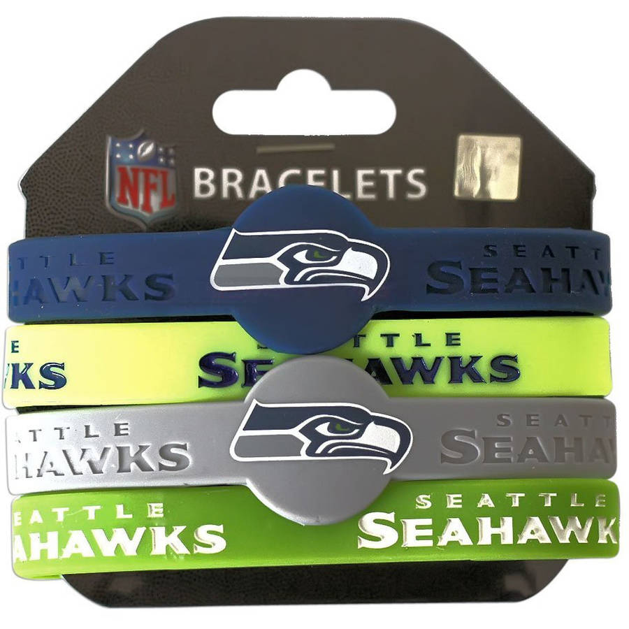 NFL Seattle Seahawks Silicone Rubber Bracelet Set