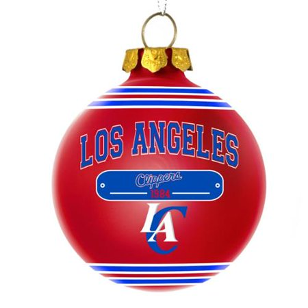 Los Angeles Clippers Official NBA 3 inch x 3 inch 2014 Year Plaque Ball Ornament by Forever Collectibles
