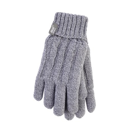 Heat Holder Glove Ladies - Light Grey - L/XL