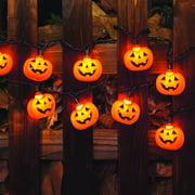 halloween 10 pumpkin lights - Halloween Lights