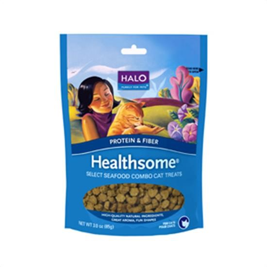 Halo Purely For Pets Healthsome Grain-Free Select Seafood Combo Dry Dog Treat, 3 Oz