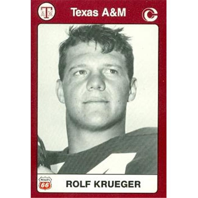 Rolf Krueger Football Card (Texas A&M) 1991 Collegiate Collection No. 54